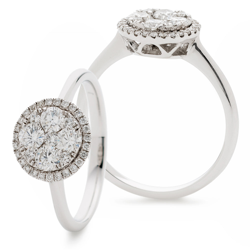 Round Cluster Diamond Cocktail Ring 0.60ct