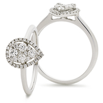 Pear Shape Halo Cluster Ring 0.40ct