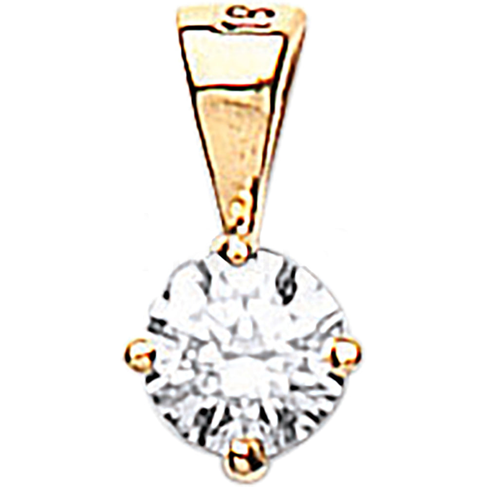 18ct Yellow Gold 0.15ct Claw Set Diamond Pendant