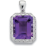 9ct White Gold 0.06ct Diamond & 0.90ct Tanzanite Cluster / Flower Pendant