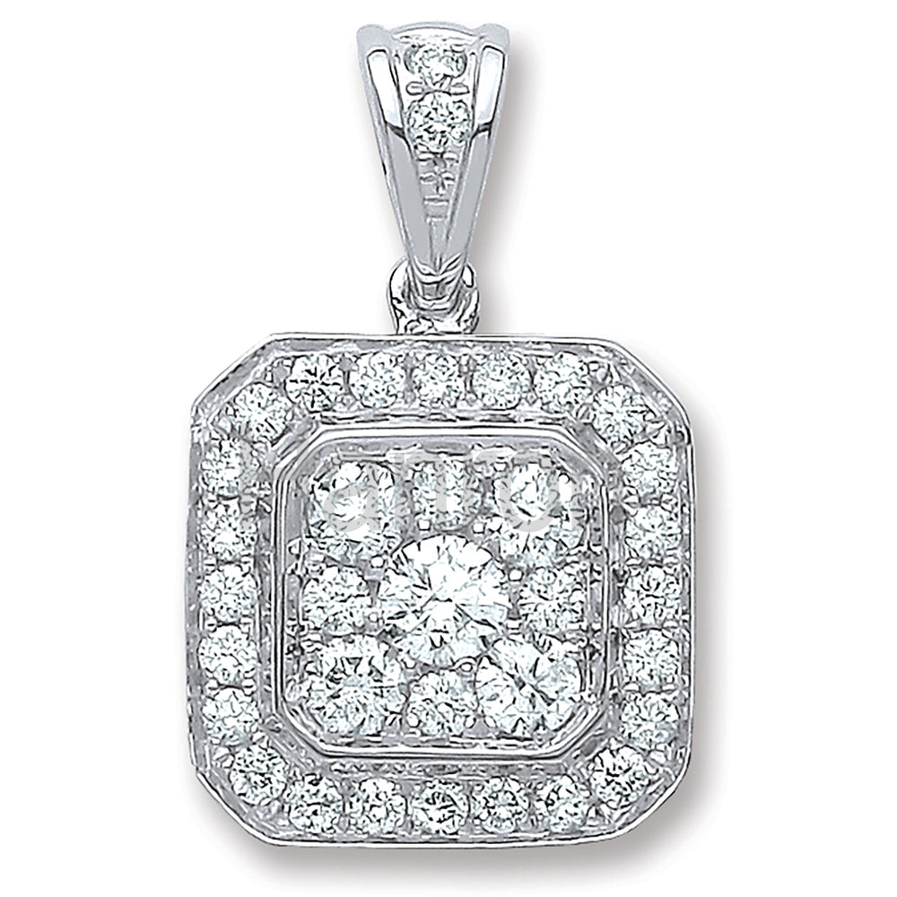 18ct White Gold 0.50ct G/Vs Diamond Pendant