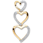 9ct Yellow Gold 0.15ct Diamond Heart Pendant