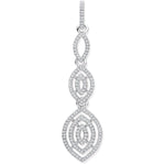 9ct White Gold Drop 0.25ct Diamond Pendant