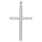 18ct White Gold 0.45ct Diamond Set Cross