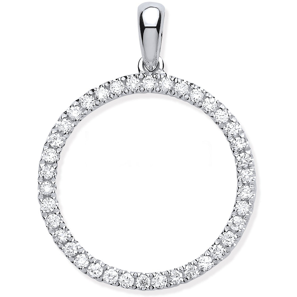 9ct White Gold 0.33ct Circle of Life Diamond Pendant