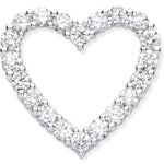 18ct White Gold 1.01ct Heart Shaped Drop Pendant