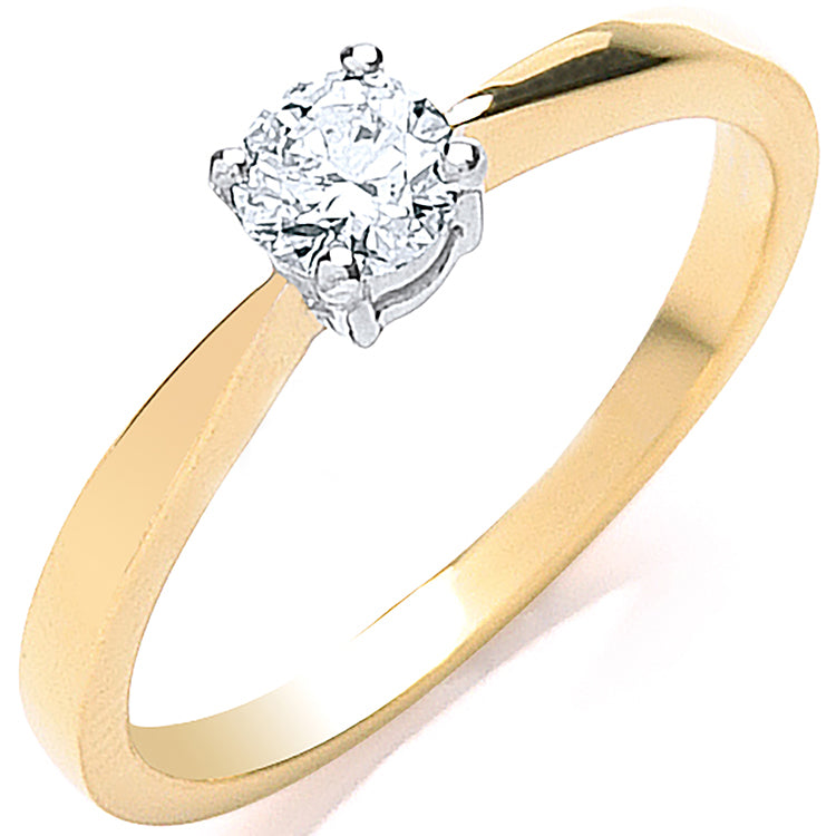 18ct Yellow Gold 0.35ct Diamond Engagement Ring