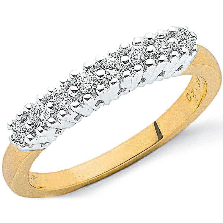 9ct Yellow Gold 0.20ct Diamond Eternity Ring