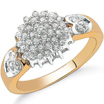 9ct Yellow Gold 0.50ctw Diamond Cluster Ring