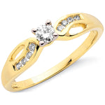 9ct Yellow Gold 0.26ct Diamond Ring