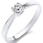 9ct White Gold 0.25ct Diamond Engagement Ring