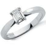18ct White Gold 0.50ct Emerald Cut Diamond Engagement Ring
