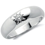 9ct White Gold 0.15ct Single Stone Diamond Band