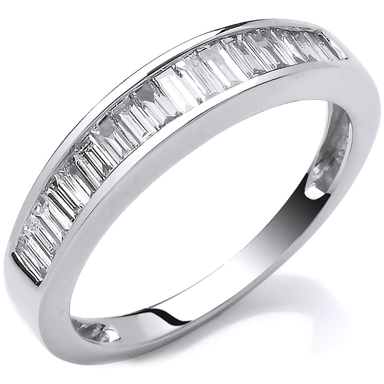18ct White Gold 0.50ctw Baguette Cut Diamond Eternity Ring