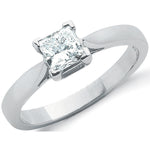 18ct White Gold 0.70ct Princess Cut Diamond Engagement Ring