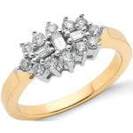 18ct Yellow Gold 0.50ctw Diamond Boat/Cluster Ring