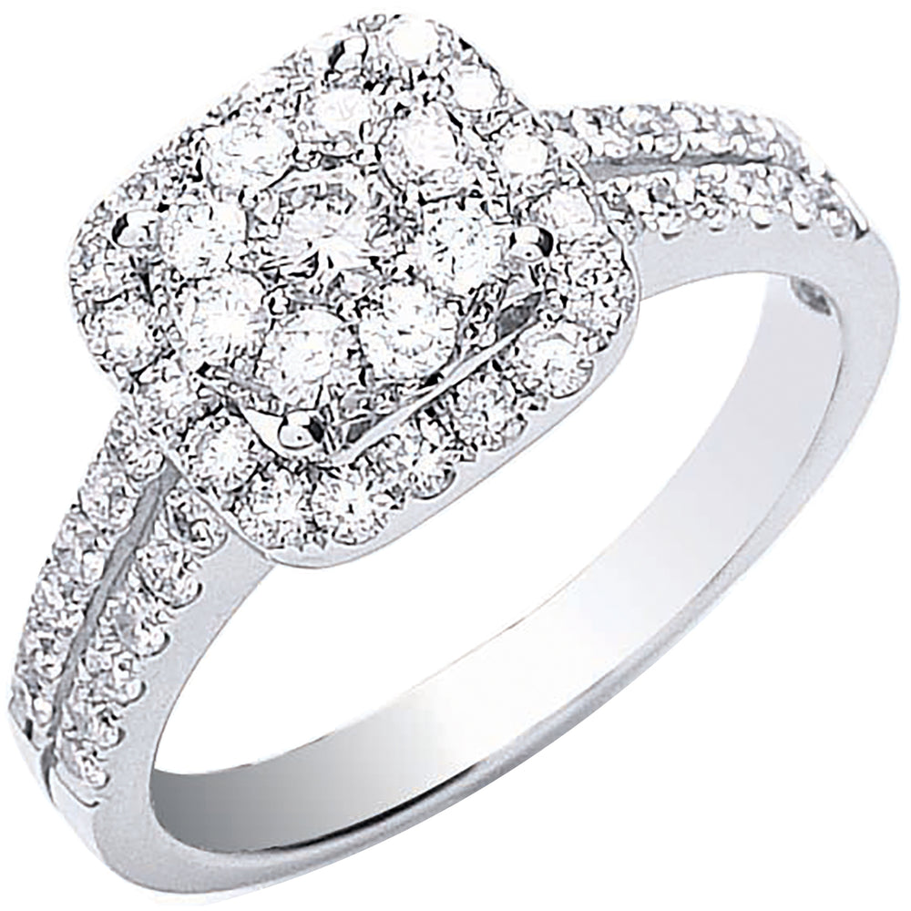 18ct White Gold 0.90ct Fancy Diamond Ring