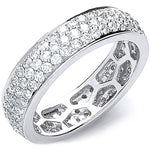 18ct White Gold 1.40ct Pave Set Full ET Ring