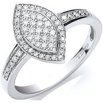 18ct White Gold Pave Set 0.25ct Diamond Ring