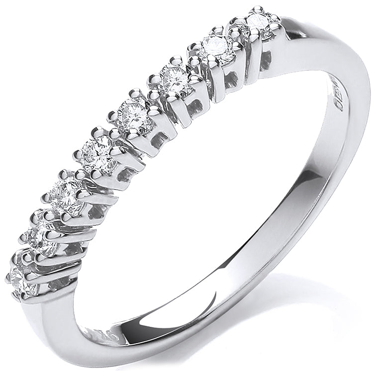 9ct White Gold 0.20ct Diamond Eternity Ring