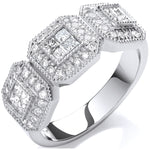 18ct White Gold 0.70ct Diamond Dress Ring