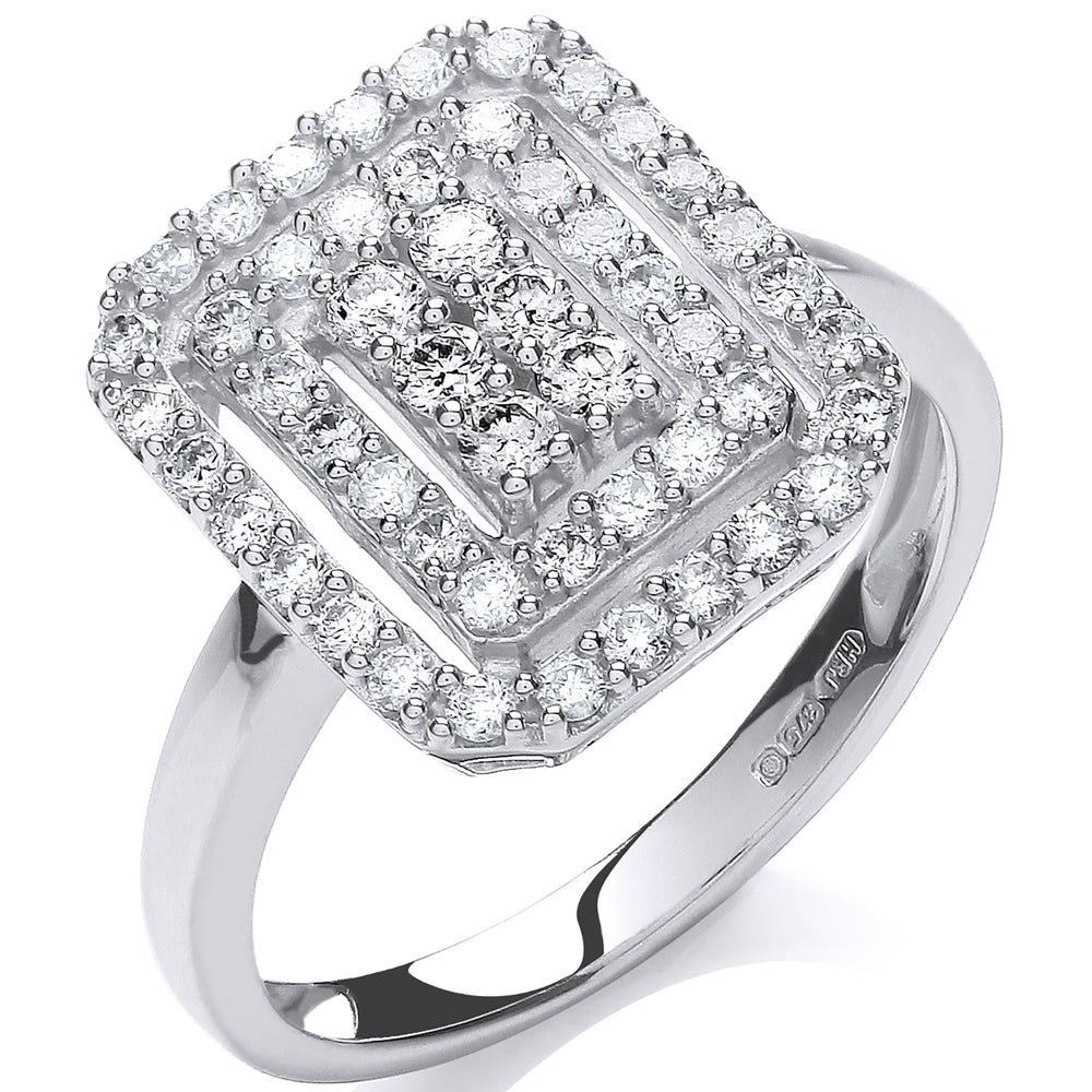 9ct White Gold 0.50ct Diamond Dress Ring