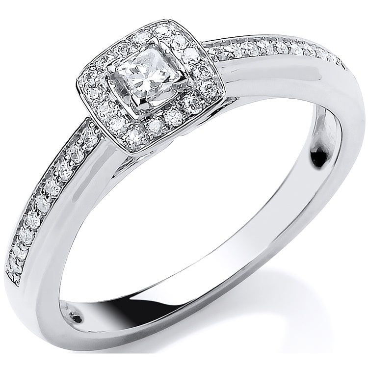 18ct White Gold 0.25ct Fancy Engagement Ring
