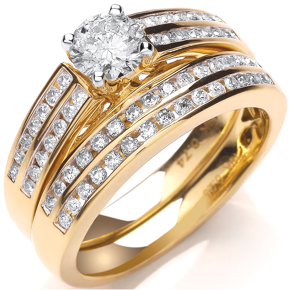 18ct Yellow Gold 1.00ct Fancy Bridal Set