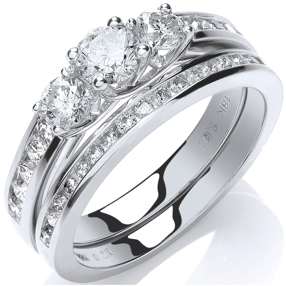 18ct White Gold 1.00ct Fancy Bridal Set