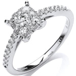 18ct White Gold 0.50ct H-SI Dress Ring