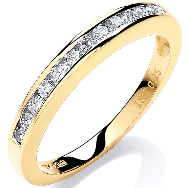 18ct Yellow Gold 0.25ctw Diamond Eternity Ring