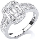 18ct White Gold 1.00ct G-VS Dress Ring