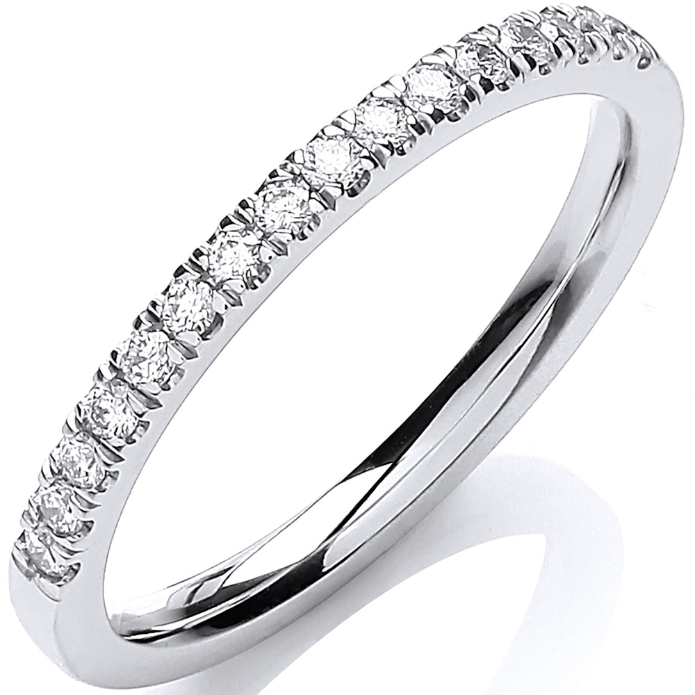 18ct White Gold Half ET 0.20ct Ring