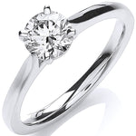 18ct White Gold 0.70ct Certificated Engagement Ring