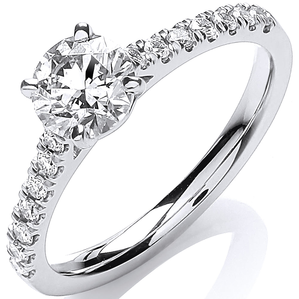 18ct White Gold 0.90ctw Certificated Engagement Ring