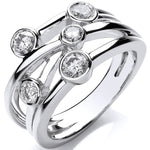 18ct White Gold 0.75ct GH-SI Diamond Dress Ring