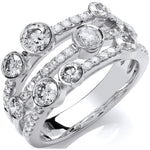 18ct White Gold 1.60ct GH-SI Diamond Dress Ring
