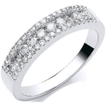18ct white Gold 0.50ct GH-SI Diamond Half Eternity Ring