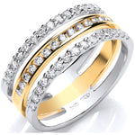 18ct 2 Colour 3 Band 0.50ct Diamond Ring