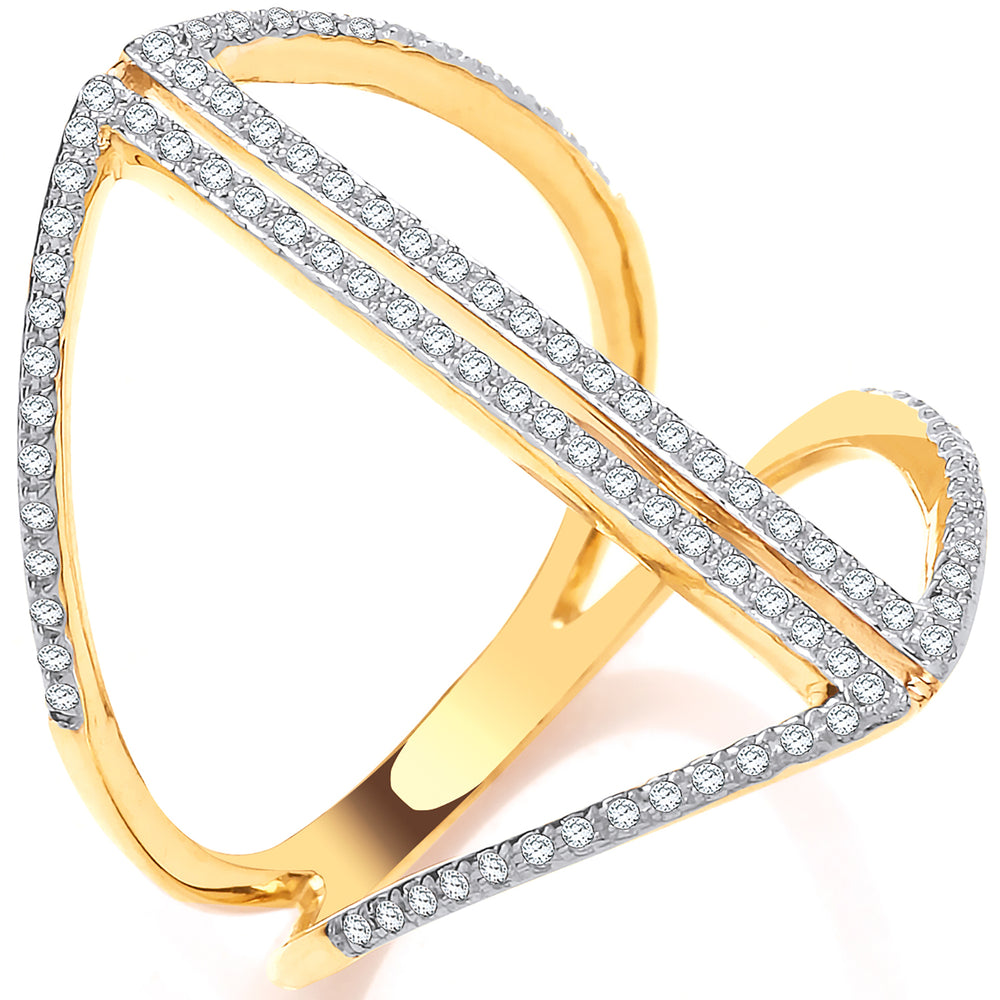9ct Yellow Gold 0.20ct Dress Ring