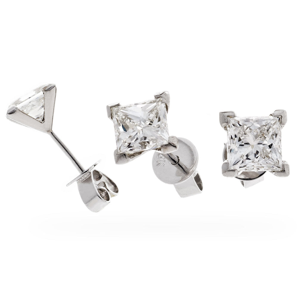 Princess Cut Diamond Studs 2.00ct