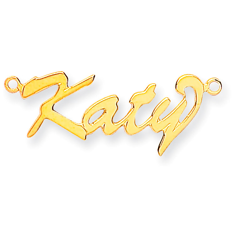 9ct Gold Script Curl Name Necklace
