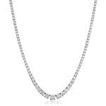 Graduated Four Claw Tennis Necklace 7.40ct