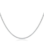 Half Set Tennis Necklace 2.40ct