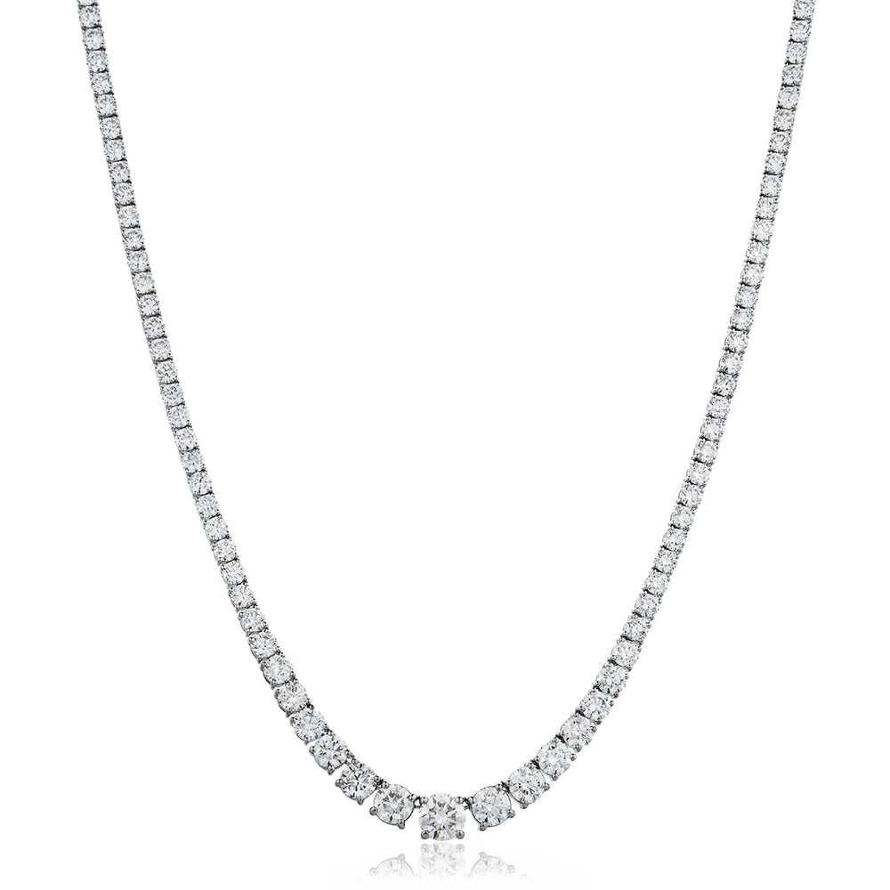 Graduated Tennis Necklace 14.00ct