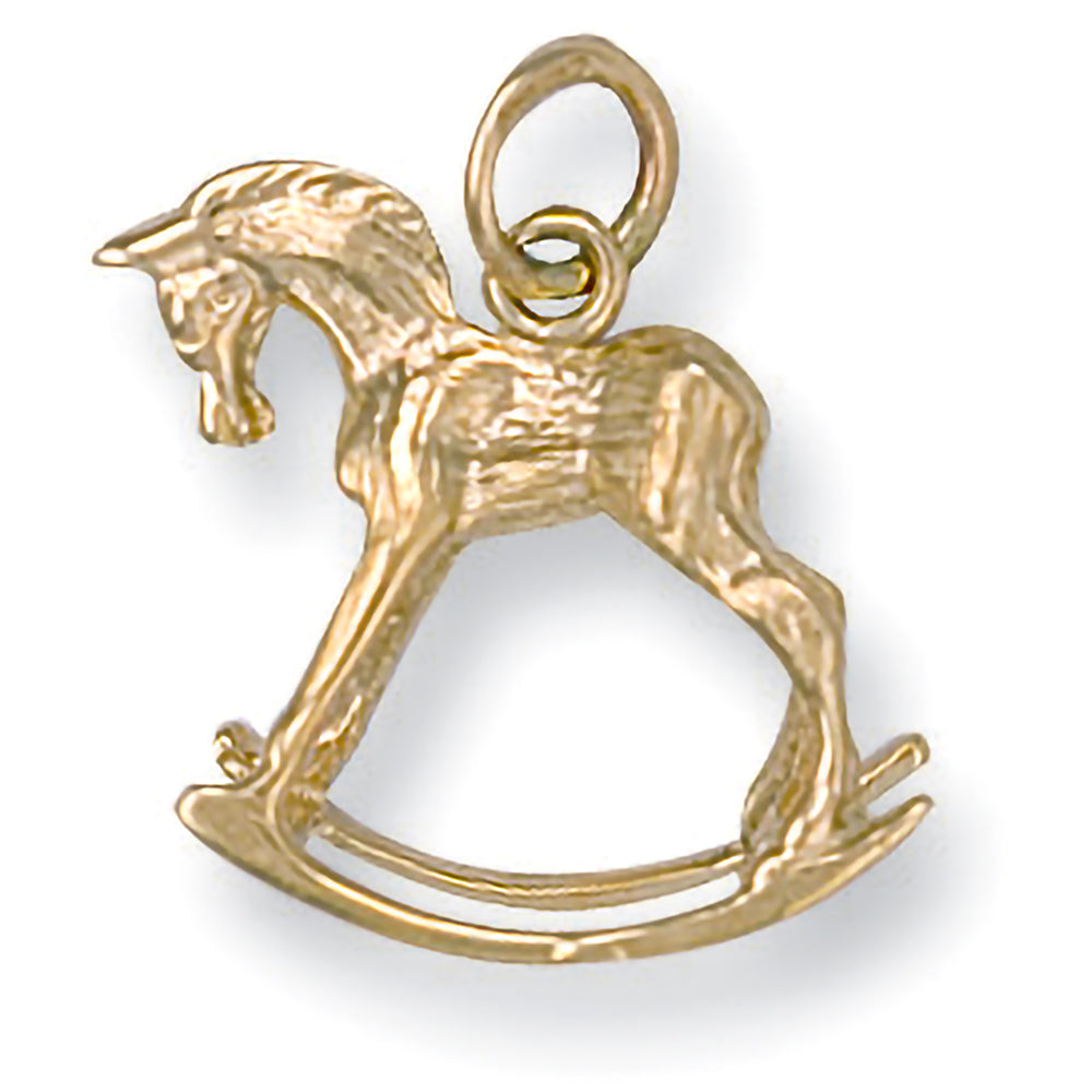 9ct Yellow Gold Rocking Horse Pendant