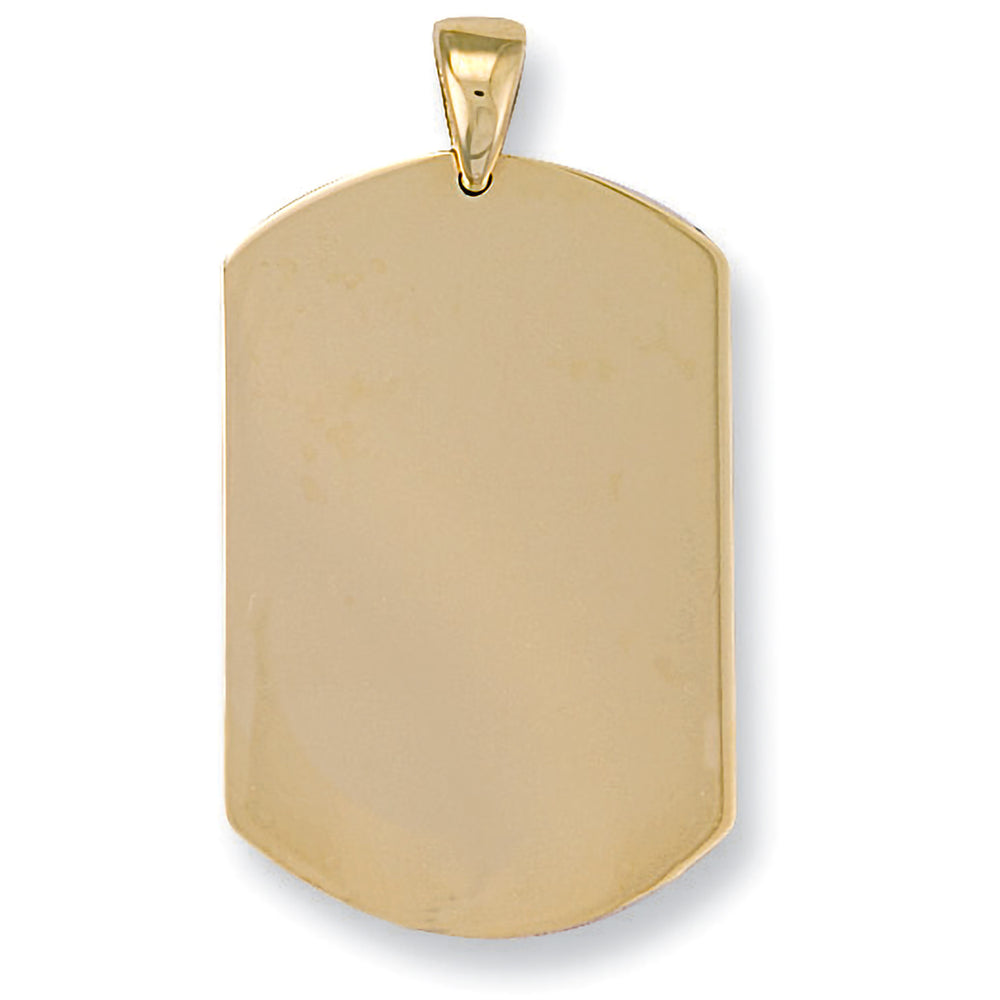 9ct Yellow Gold Dog Tag Pendant