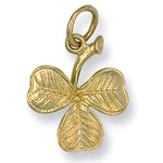 9ct Yellow Gold 3 Leaf Clover Pendant