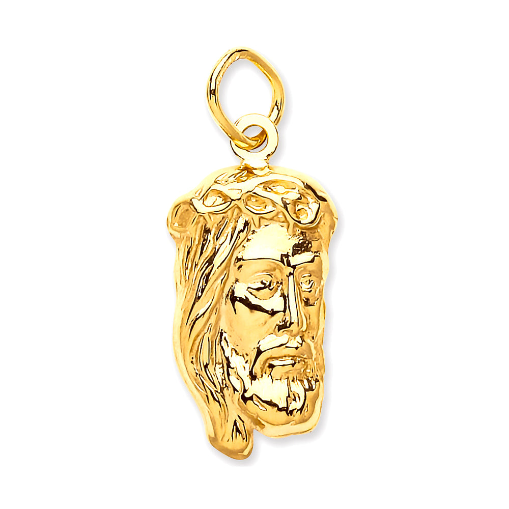 9ct Yellow Gold Small Jesus Pendant