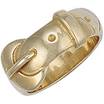 9ct Yellow Gold Buckle Ring
